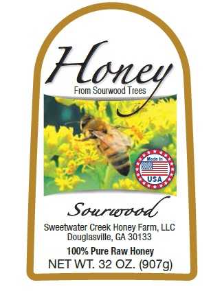 2lb Sourwood label picture